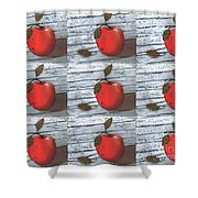 Nine Apples Shower Curtain