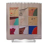 Nine Ladies Lolling Shower Curtain
