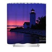 Nine Mile Point Light - Fm000022a Shower Curtain