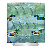 Nine Of Cups Shower Curtain