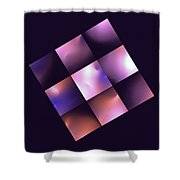 Nine Square Blue Shower Curtain
