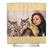 Nine Stars Woman / Wise Counsel Shower Curtain
