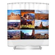 Nine Utah Landmarks Shower Curtain by Catherine Sherman