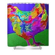 Nini's Hen Shower Curtain