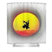 Ninja Duel In The Sun Shower Curtain