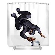Ninja Making Toast Shower Curtain
