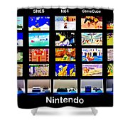 Nintendo History Shower Curtain by Benjamin Yeager