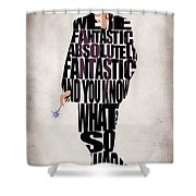 Ninth Doctor - Doctor Who Shower Curtain by Ayse Deniz