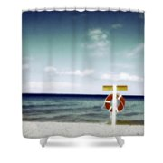 Lake Huron Michigan Waves Shower Curtain