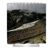 Nisqually Glacier Shower Curtain