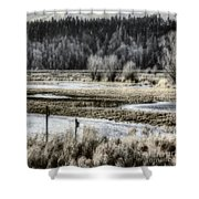 Nisqually Nest Boxes Shower Curtain