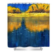 Nisqually Reflection Shower Curtain by Nancy Merkle