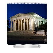 Nite At The Jefferson Memorial Shower Curtain