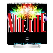 Nite Lite Book Cover Shower Curtain