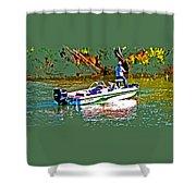 Nitro Bass Boats Shower Curtain