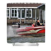 Nitro Boat Shower Curtain