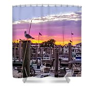 Nj's Sunset Shower Curtain