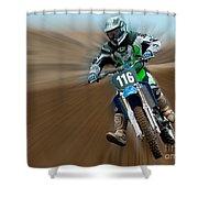 Motorcross No. 116 Shower Curtain