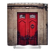 No. 24 - The Red Door Shower Curtain