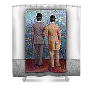 No Borders Shower Curtain