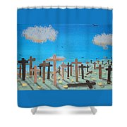 No Cross No Crown 2 Shower Curtain