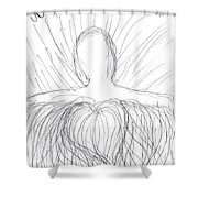 No Fear - Only Love Shower Curtain