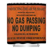 No Gas Passing Shower Curtain