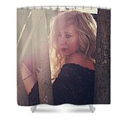 No Getting Over This Pain Shower Curtain by Laurie Search
