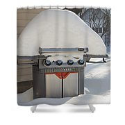 No Hot Dogs Shower Curtain