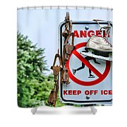 No Ice Skating Today Shower Curtain
