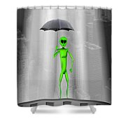 No Intelligent Life Here Shower Curtain by Mike McGlothlen