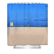 No Life Guard On Duty Shower Curtain