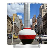 No Limits Exhibit Metlife Building Midtown Shower Curtain