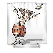 No More Bills  Shower Curtain
