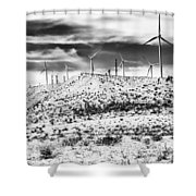 No Place Like Home 1 Bw Palm Springs Shower Curtain