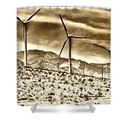 No Place Like Home 3 Palm Springs Shower Curtain