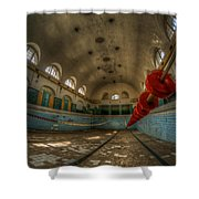 No Swimming  Shower Curtain