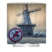 No Tilting At Windmills Shower Curtain