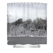 No Where To Land Shower Curtain