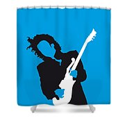 No009 My Prince Minimal Music Poster Shower Curtain