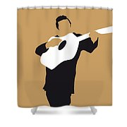 No010 My Johnny Cash Minimal Music Poster Shower Curtain