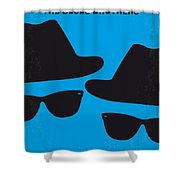 No012 My Blues Brother Minimal Movie Poster Shower Curtain