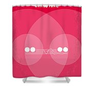 No016 My Christine Minimal Movie Poster Shower Curtain