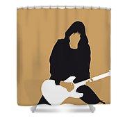 No020 My Ramones Minimal Music Poster Shower Curtain by Chungkong Art