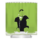No026 My Afrojack Minimal Music Poster Shower Curtain