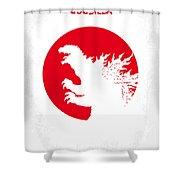 No029-2 My Godzilla 1954 Minimal Movie Poster.jpg Shower Curtain