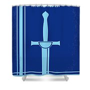 No034 My Highlander Minimal Movie Poster.jpg Shower Curtain