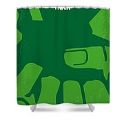 No040 My Hulk Minimal Movie Poster Shower Curtain