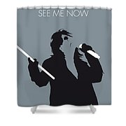 No047 My Alice Cooper Minimal Music Poster Shower Curtain