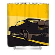 No051 My Mad Max 2 Road Warrior Minimal Movie Poster Shower Curtain